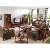 Quality 1+2+3 Italy Leather Upholstery Sofa Set with Wooden Tv Stand and Storage Cabinet for sale