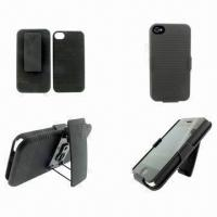 Holster Case for iPhone 4G/4S, OEM and ODM Services are Provided Manufactures
