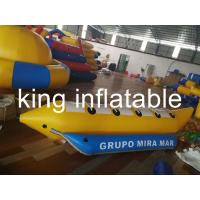 Sea Inflatable Fly Fishing Pontoon Boats For Children And Adult 0.9mm PVC Tarpaulin / Banana Boat Price Manufactures