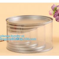PET Jar 85mm neck size food grade clear PET plastic Can screw type with aluminium easy open endsPackaging plastic can 25