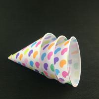 China Disposable Custom Printed Cone Paper Cup on sale