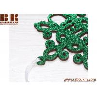 Personalized Christmas Snowflake / Green Glitter Snowflake, Wooden Snowflake Ornament, Christmas Decorations Manufactures