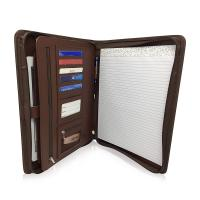 Personalized Leather Padfolio With Zipper , Professional Leather Business Padfolio Manufactures