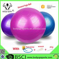 China Anti Burst Yoga Gym Exercise Ball With Excellent Slip Resistance PVC Material on sale