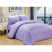 China Sateen Stripe Duvet Cover Polyester Cotton Bedding Set 4pcs Solid Color on sale