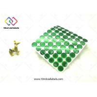 Green Circle Shape Holographic Security Stickers , 3d Flashing Security Seal Stickers Manufactures