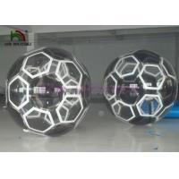 Soccer Type Inflatable Walk On Water Ball , Black Kids Water Sports Games Manufactures