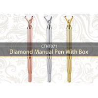 China Multifunctional Double Head Manual Tattoo Pen Diamond Mental Eyebrow Tattoo Pens on sale