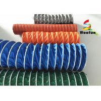 Insulated High Temperature Flexible Duct , Flame Resistant PVC Ventilation Ducting Manufactures