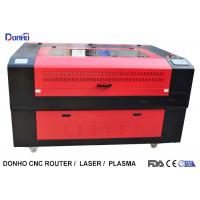 Red Protective Cover CO2 Laser Cutter , CNC Laser Cutting Machine For Acrylic Manufactures