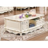 China European Classical Style white Coffee Table With Drawer on sale