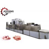Frozen Products Pork Pieces Food Thawing Machine With Microwave Source Manufactures
