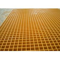 38MM Square Hole Plastic floor grating Yellow Color Free Sample Manufactures