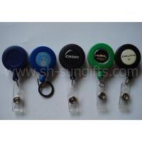 Frosted Round Solid Colors Retractable Badge Reels Manufactures