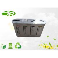 Round Stainless Steel Waste Recycle Container , Paper Waste Bin Manufactures