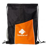 New Hot Selling Polyester Drawstring Bag with Pocket-HAD14022 Manufactures
