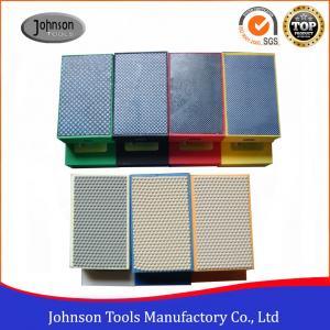 China Resin / Electroplated Diamond Hand Polishing Pad , Diamond Hand Pad 90x55mm on sale