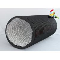 Black Aluminum Round Flexible Duct , Multi - Function Elastic PVC Air Duct Manufactures