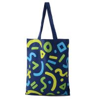 Sustainable Recycled Cotton Tote Bags , Printed Calico Bags Large Capacity BSCI Sedex 4P Audit Manufactures