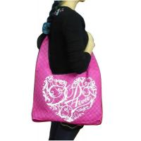 75g Square Veins Quilted Non Woven Promotional Bags, Eco-friendly Reusable Carry Bag Manufactures
