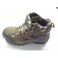 Navy Camouflage Heavy Duty Work Shoes With Air Mesh Lining Manufactures