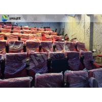 High Definition Film Projector 4D Theather With Movement Chair Orange Manufactures