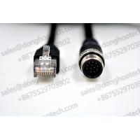 China Industrial Ethernet Cables M12 TO RJ45 Cables 3meter 10ft Black GigE Vision Cables / Networking Cables on sale