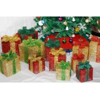 Christmas decorations, wrought iron box, bowknot Christmas gift box window set decoration supplies Manufactures