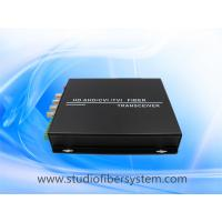 Buy cheap 4CH HDCVI fiber transceiver for Dahua/Hikvision 720p 1080p 3MP 4MP CVI signal over fiber to 20km without delay from wholesalers