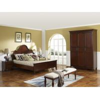 Quality Rubber Wood made bedroom furniture American style design for Luxury Apartment for sale