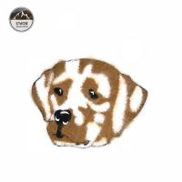 Animals Dog Design Chenille Patches No Minimum Handmade Brown / White Color Manufactures