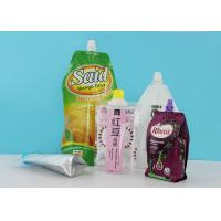 Laminated Stand Up Barrier Pouches With 22mm Spout Caps For Laundry Detergent Liquid Package Manufactures