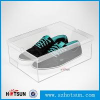 Display Racks Showcase Clear Transparent Acrylic Shoe Box for wholesale Manufactures