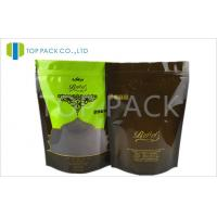 Glossy Printed Stand Up Pouches With Clear Window , PE food pouches packaging Manufactures
