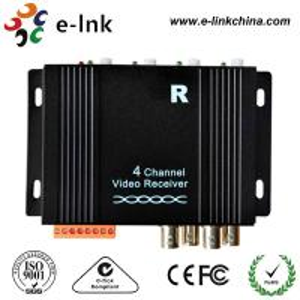 CCTV Camera Active UTP Video Extender Receiver PAL / NTSC/ SECAM Compatible Format Manufactures