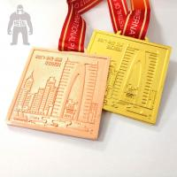 Golden  Silver Metal  Square Medal   For Trophies   Stainless Steel Material Manufactures