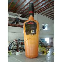 Yellow Giant Inflatable Beer Bottle / Advertising Custom Inflatable Balloons Manufactures