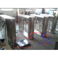Security Half Height Turnstiles Tripod Turnstile Gate With Led Direction Instruction Manufactures