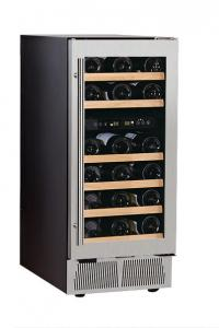China 28 Bottles 80 Litres Wine Cellar Fridge Dual Temperature Zone on sale
