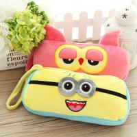 China Personalized Cartoon Plush Disney Owl Pencil Case with Zipper on sale