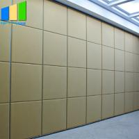 China Sound Proof Partitions Folding Doors Accordion Room Divider Acoustic Panel Movable Mdf Partition Walls In Dubai on sale
