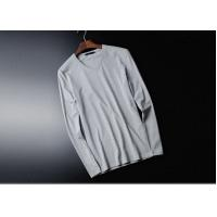 V Collar Pure Cotton Mens Long Sleeve Tee Shirts White Tight Top Autumn Clothing Manufactures