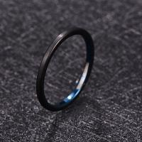 2019 NUNCAD 2mm Wide Electroplated Black+blue Surface Brushed Tungsten Steel Men's Ring Wedding Band Tungsten Carbide Manufactures
