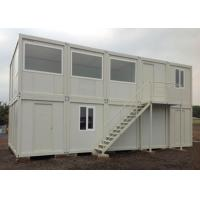 Stable Prefabricated Container Homes Sliding Window With Light Gray PVC Flooring Manufactures