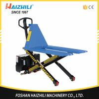 Hot selling 1000kg high lift electric scissor lift pallet truck Manufactures