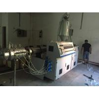 160mm PVC Plastic Pipe Extrusion Machine Conical Twin Screw Extruder Manufactures