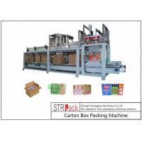 Bottle Carton Case Packer Machine For Lubricating Oil / Aerosol Products Filling Line Manufactures