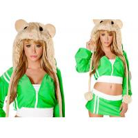 Green MC Hamster Female Halloween Costumes , New Styles Fancycosplay Halloween Costume Manufactures