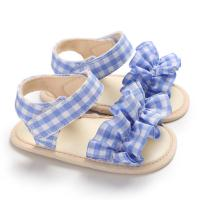 China New style Cotton fabric Flower girl 0-2 years prewalker baby girl sandals on sale