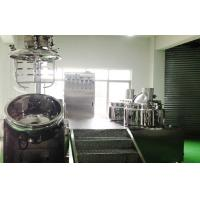 300L SUS316L Cosmetic Cream Emulsifier Mixer, Vacuum Emulsifying Machines Manufactures